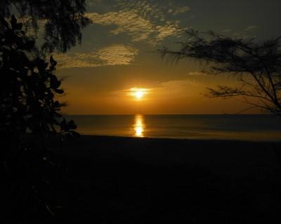 Beach Camp sunset